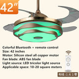 "42"" Musical ceiling fan with LED light/mobile phone APP Bluetooth Modern ""invisible"" looks great in any room"