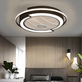 "22"" sleek black and white fan with light - modern design - Energy saving LED light with remote control"