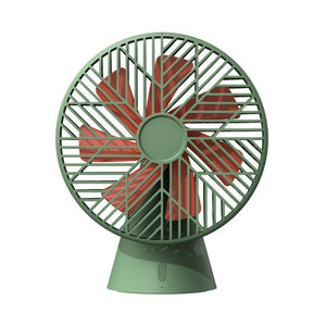 Battery powered 3-speed desktop fan in your choice of two colors.