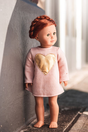 Gold Heart Doll Tunic