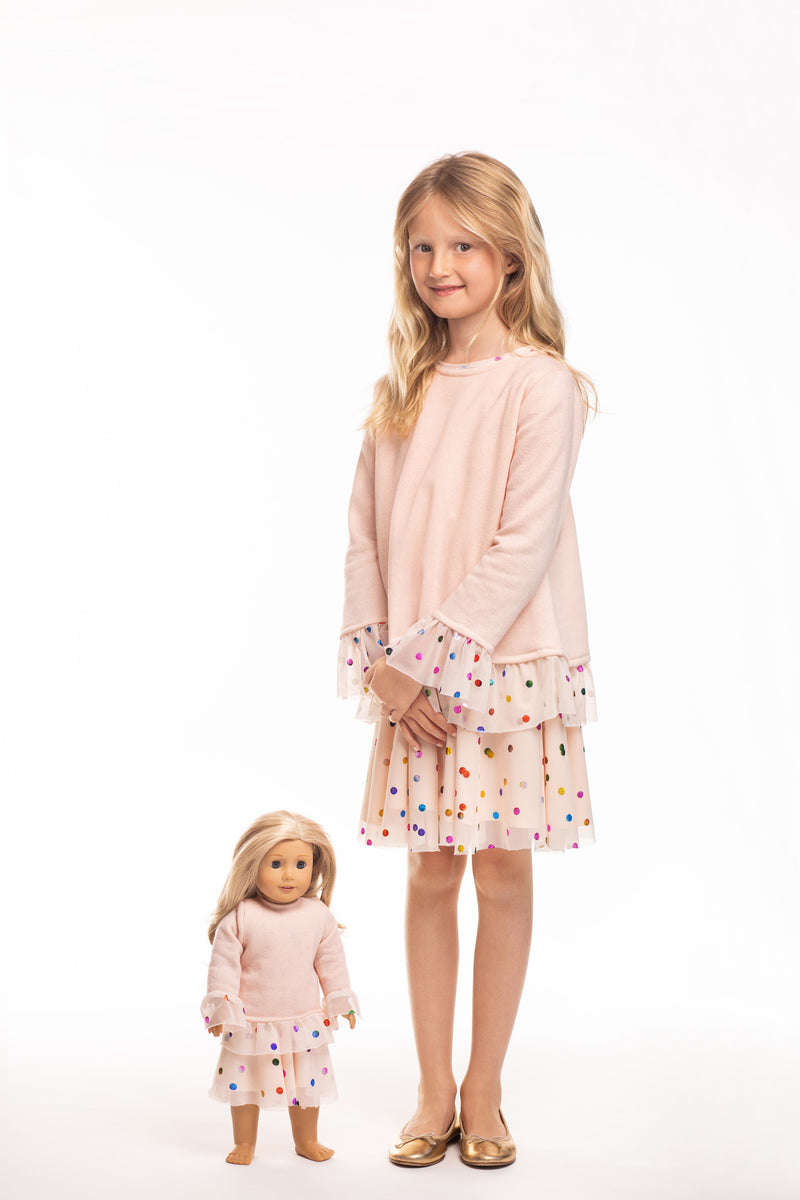 Matching Girl & Doll Ruffle Sweatshirt