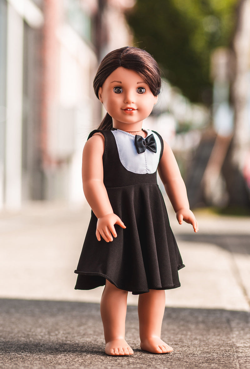 Tuxedo Doll Dress