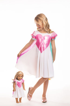 Matching Girl & Doll Unicorn Dress