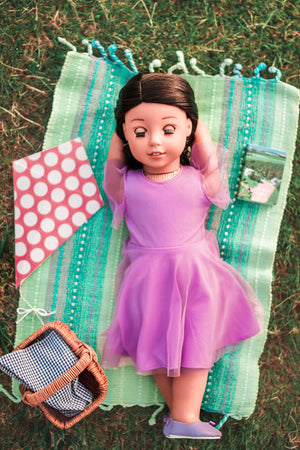 Lavender Party Doll Dress