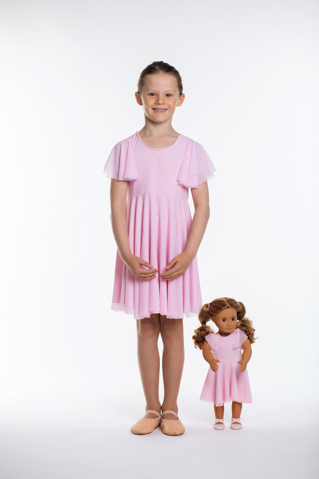 Matching Girl & Doll Bubble Gum Party Twirl Dress
