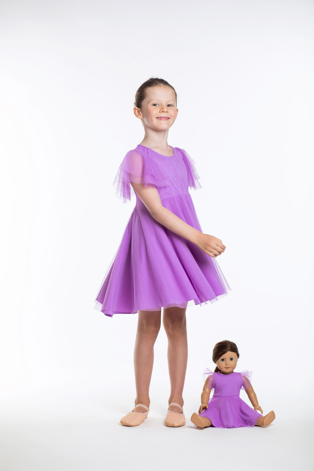 Matching Girl & Doll Lavender Party Twirl Dress