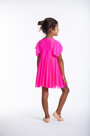 Neon Pink Party Twirl Dress