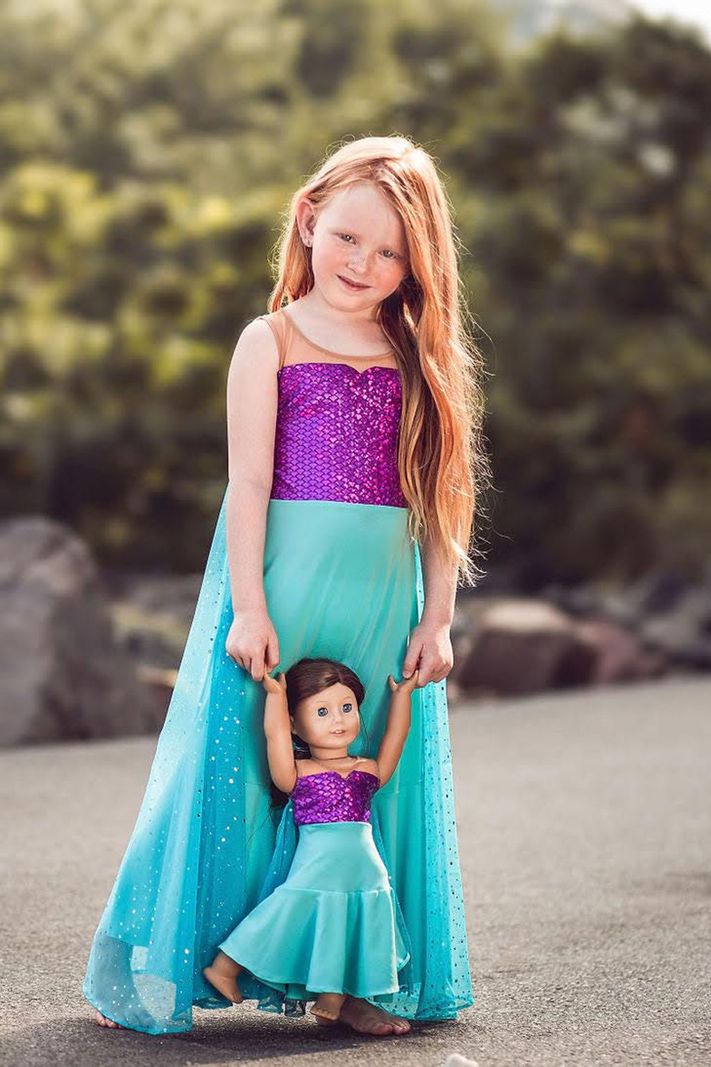 Matching Girl & Doll Mermaid Dress