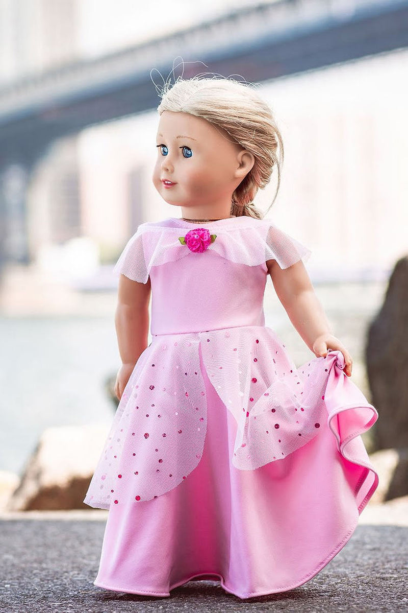 Rose Princess Doll Dress