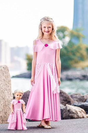 Matching Girl & Doll Rose Princess Dress