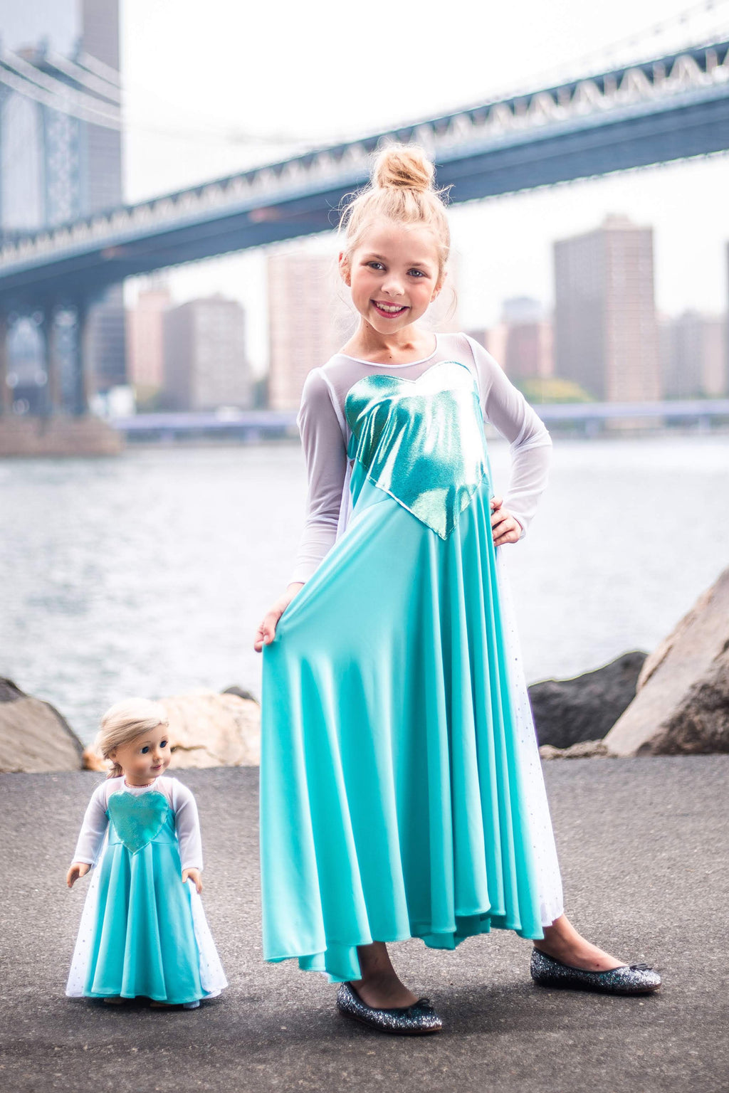 Matching Girl & Doll Ice Queen Dress
