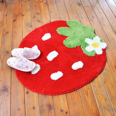 Mother Garden Furniture Floor Mat Flower Red Small