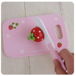 Mother Garden Playing House Utensil Chopping Board and Knife Set