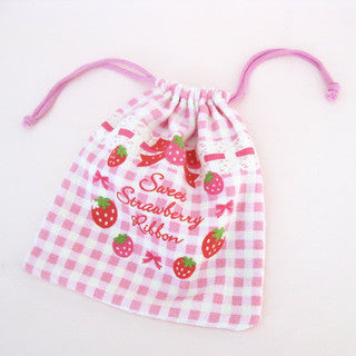 Mother Garden Bag Towel String Strawberry Checker M