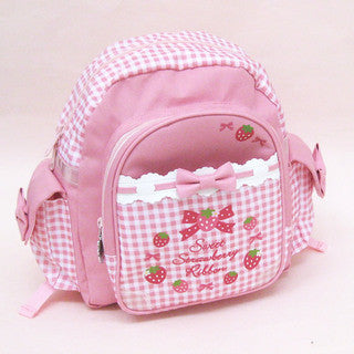 Mother Garden Bag Pack Strawberry Checker Ribbon