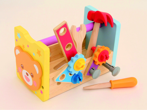 Mokku Mokku Wooden Toy Mumble Bruin Carpenter