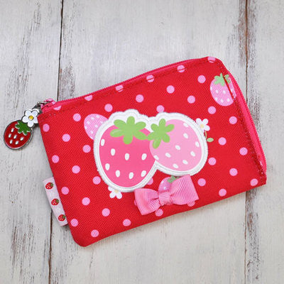 Mother Garden Purse Coin Case Strawberry Red Dot