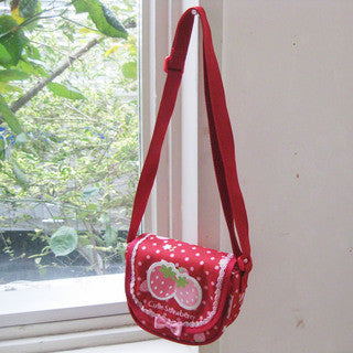 Mother Garden Mini Shoulder Bag Strawberry Red Dot