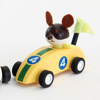 FURI FURI DOGS Dog in racing car - Yellow