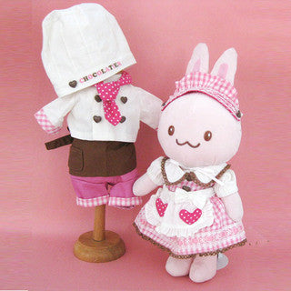 Usamomo Doll Cotton Dress Set Chocolate