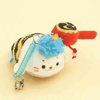 SIROTAN Keychain or Handphone Strap with Cleaner Ogre Blue