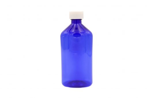 Pharmacy Bottle with Child Resistant Cap – Blue 16oz