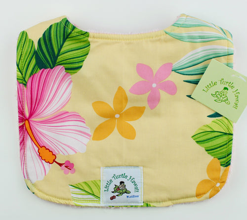 Hawaiian Baby Bib: Mele Yellow