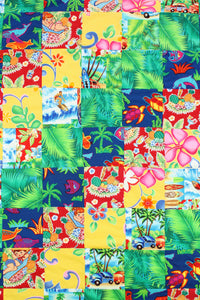 Hawaiian Baby and Toddler Patchwork Blanket: Ekolu Green Patchwork