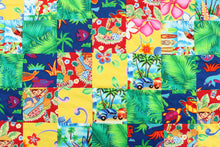 Load image into Gallery viewer, Hawaiian Baby and Toddler Patchwork Blanket: Ekolu Green Patchwork
