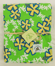 Load image into Gallery viewer, Hawaiian Baby Blanket: Lei Aloha Lime Green