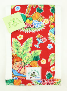 Hawaiian Baby Burp Cloth: Luau Lulu Red
