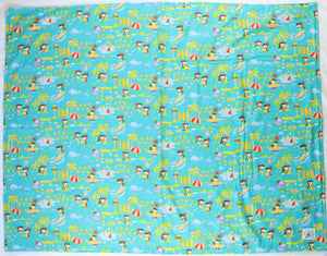 Hawaiian Baby Blanket: Seaside Hula Turquoise