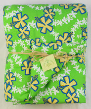 Load image into Gallery viewer, Hawaiian Print Baby Comforter: Lei Aloha Lime Green
