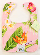 Load image into Gallery viewer, Hawaiian Baby Bib: Kalena Pink