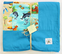 Load image into Gallery viewer, Hawaiian Baby and Toddler Patchwork Blanket: Ekolu Turquoise Patchwork