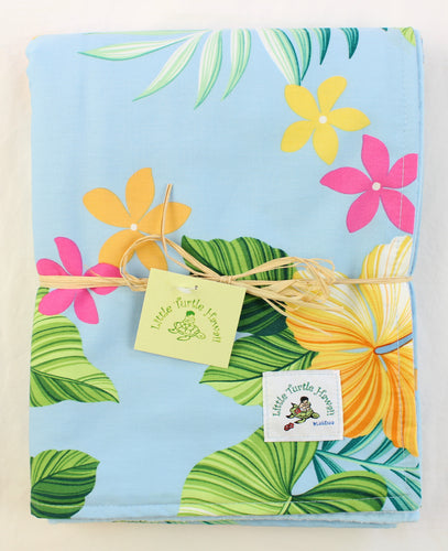Hawaiian Baby Blanket: Mele Blue Hawaiian