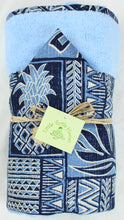 Load image into Gallery viewer, Made to Order, Coordinating Hawaiian Baby Gifts: Kawika Blue