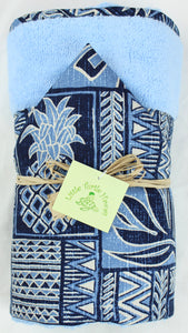 Personalized, Made to Order, Coordinating Hawaiian Baby Gifts: Kawika Blue