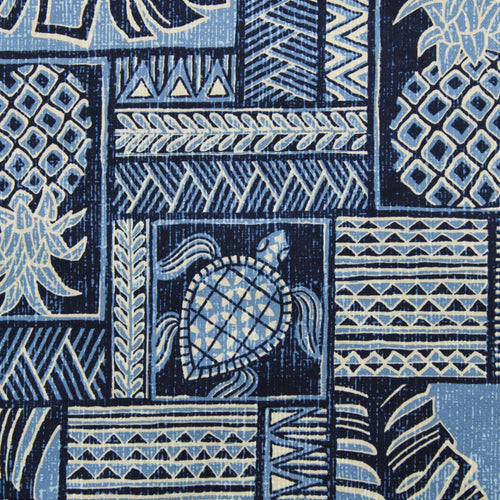Fabric by the Yard, Hawaiian Print: Kawika Blue