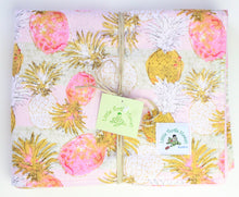 Load image into Gallery viewer, Personalized, Made to Order, Coordinating Hawaiian Baby Gifts: Pineapple Pink