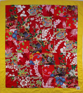 Hawaiian Baby and Toddler Blanket, Patchwork Blanket, Made in Hawaii, Hawaiian Baby Shower Gift: Hawaiian Punch Patchwork