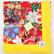 Load image into Gallery viewer, Hawaiian Baby and Toddler Blanket, Patchwork Blanket, Made in Hawaii, Hawaiian Baby Shower Gift: Hawaiian Punch Patchwork