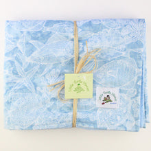 Load image into Gallery viewer, Hawaiian Baby Blanket: Turtle Bay Blue