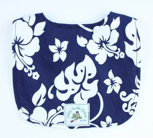 Hawaiian Baby Bib: Kainalu Navy Blue