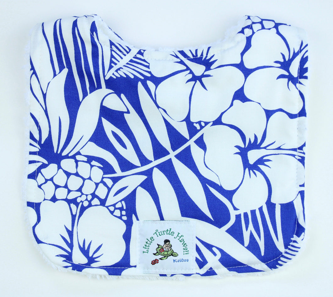 Hawaiian Baby Bib: Pineapple Patch Blue