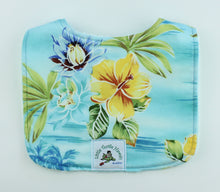 Load image into Gallery viewer, Hawaiian Baby Bib: Hanalei Aqua
