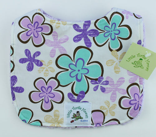 Hawaiian Baby Bib: Little Aloha Lavender