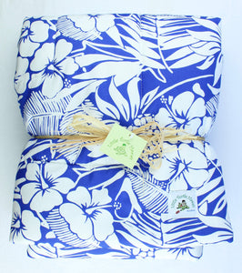 Hawaiian Print Baby Comforter: Pineapple Patch Blue