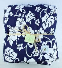 Load image into Gallery viewer, Hawaiian Print Baby Comforter: Kainalu Navy Blue