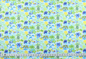 Made to Order, Coordinating Hawaiian Baby Gifts: Islands of Aloha Periwinkle Blue